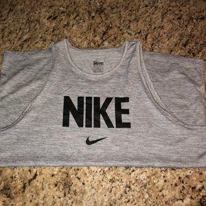 Grey Nike Logo Tank L
